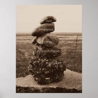 Five Virtues of Zen Poster