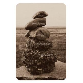 Five Virtues of Zen Rectangular Photo Magnet