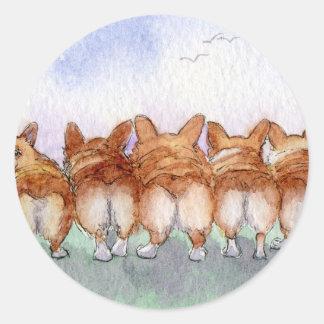 Five walk away together sticker