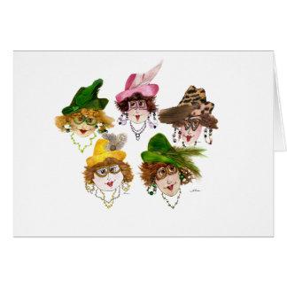 Five Whimsical Ladies Card