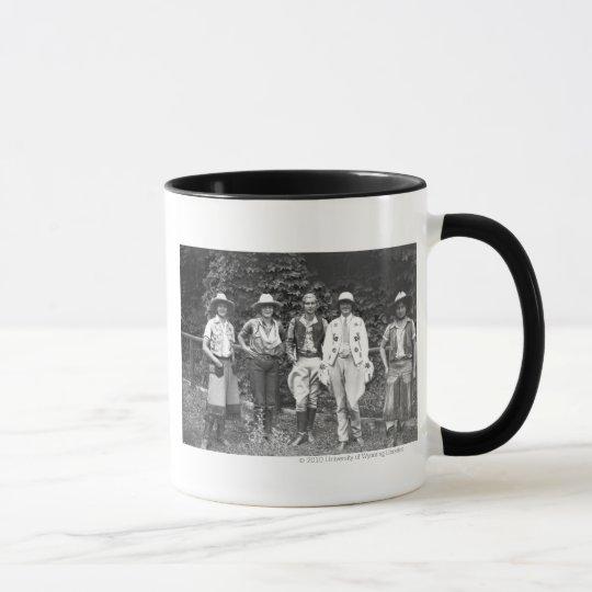 Five women at the dude ranch mug