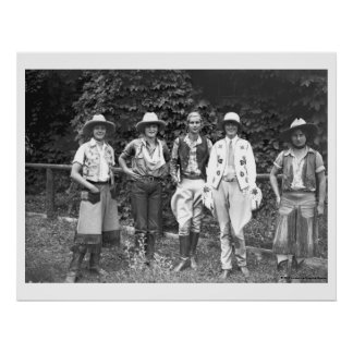 Five women at the dude ranch poster