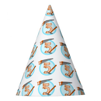 Five Year old Boy Birthday TOOLS Party Hat