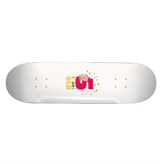 Five Years old fifth Birthday Party Ze6bl Skateboard