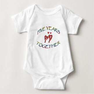 FIVE YEARS TOGETHER BABY BODYSUIT