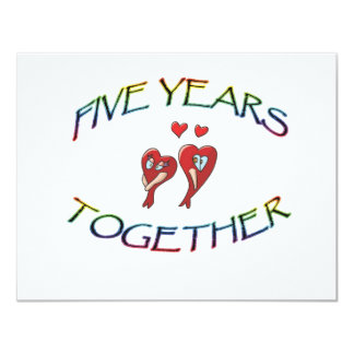 FIVE YEARS TOGETHER CARD