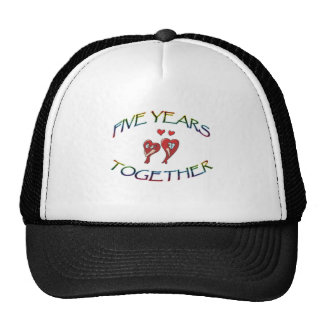 FIVE YEARS TOGETHER TRUCKER HAT