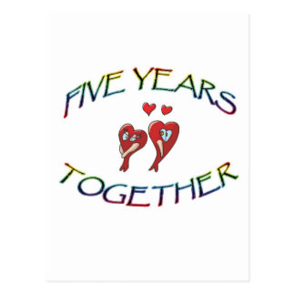 FIVE YEARS TOGETHER POSTCARD