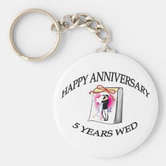 Five Years Wed Keychain