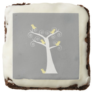 Five Yellow Birds in a Tree Brownie