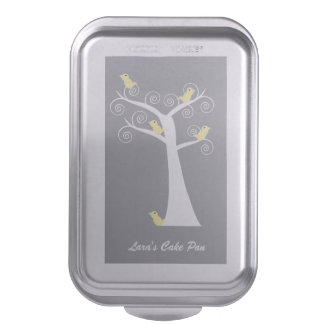 Five Yellow Birds in a Tree Cake Pan
