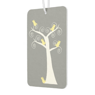 Five Yellow Birds in a Tree Car Air Freshener