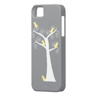 Five Yellow Birds in a Tree Case