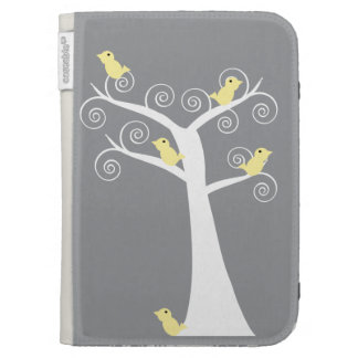 Five Yellow Birds in a Tree Caseable Case Kindle Keyboard Cases
