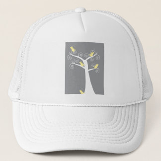 Five Yellow Birds in a Tree Hat