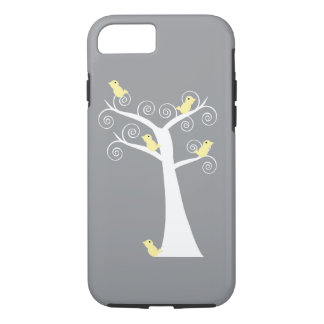 Five Yellow Birds in a Tree iPhone 8/7 Case