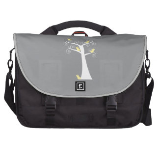 Five Yellow Birds in a Tree Computer Bag