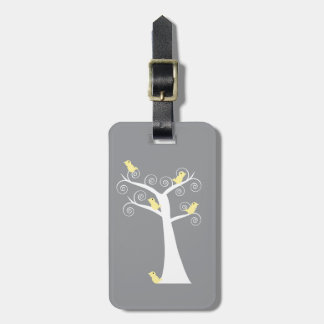 Five Yellow Birds in a Tree Luggage Tag