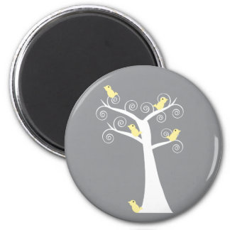 Five Yellow Birds in a Tree Magnet