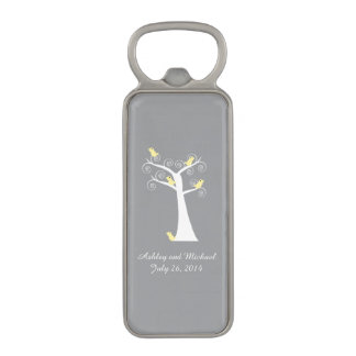 Five Yellow Birds in a Tree Magnetic Bottle Opener