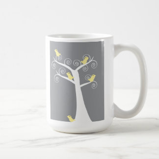 Five Yellow Birds in a Tree Mug