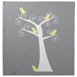 Five Yellow Birds in a Tree Napkins