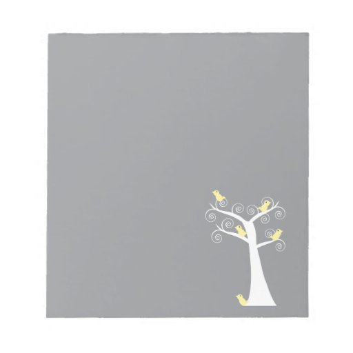 Five Yellow Birds in a Tree Notepad