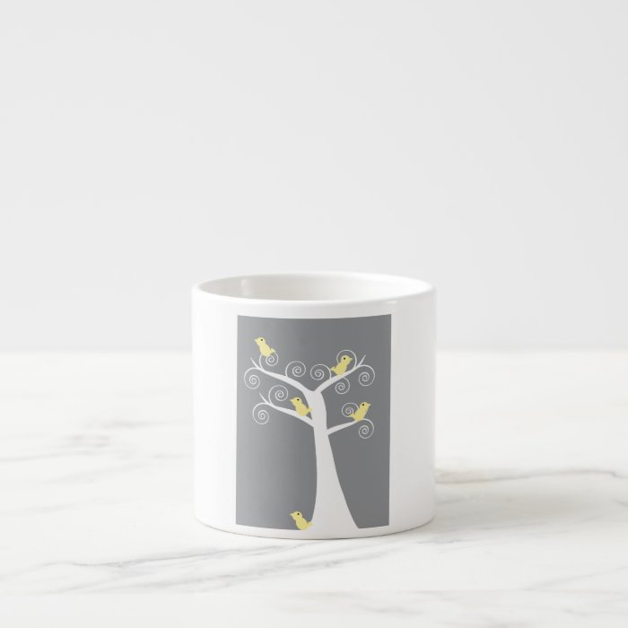 Five Yellow Birds in a Tree Specialty Mug