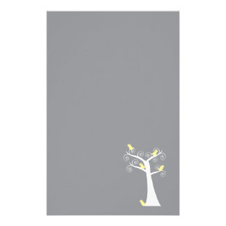 Five Yellow Birds in a Tree Stationery