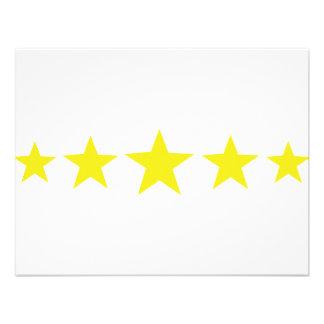 five yellow stars icon announcement