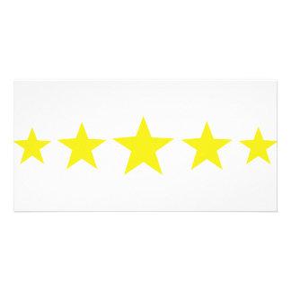 five yellow stars icon card