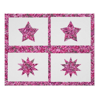 FivePoint TenPoint Star Decorations Poster
