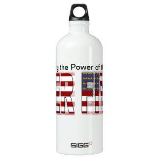 Fiver American Flag Aluminum Water Bottle