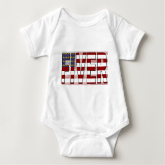Fiver American Flag Baby Bodysuit
