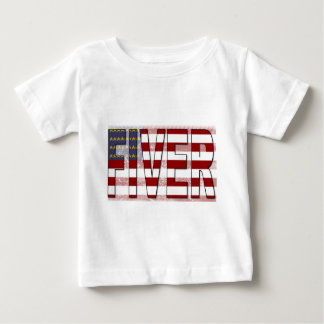 Fiver American Flag Baby T-Shirt