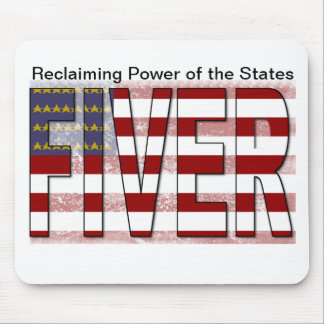 Fiver American Flag Mouse Pad