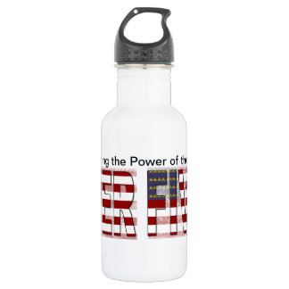 Fiver American Flag Stainless Steel Water Bottle