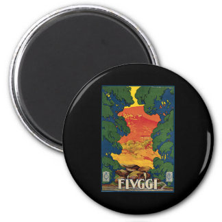 Fivggi Italy Travel Poster 2 Inch Round Magnet