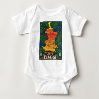 Fivggi Italy Travel Poster Infant Creeper
