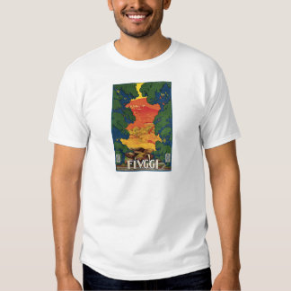 Fivggi Italy Travel Poster T-shirt