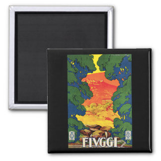 Fivggi, Italy Vintage Travel Advertising Poster 2 Inch Square Magnet