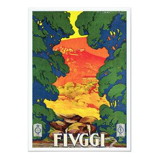 Fivggi, Italy Vintage Travel Advertising Poster 5x7 Paper Invitation Card