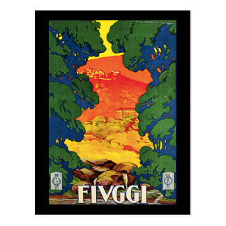 Fivggi, Italy Vintage Travel Advertising Poster Postcard
