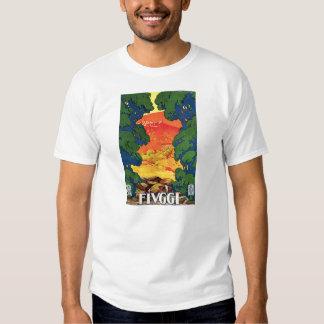 Fivggi, Italy Vintage Travel Advertising Poster Tshirts