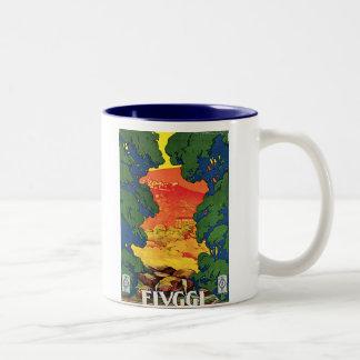 Fivggi, Italy Vintage Travel Advertising Poster Two-Tone Coffee Mug