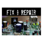 Fix and Repair Business Card Templates