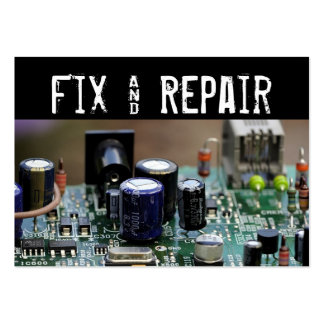 Fix and Repair Large Business Card