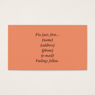 Fix Facts First Business Cards