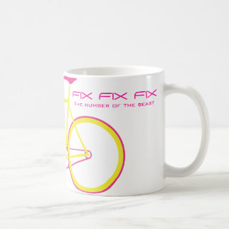 FIX FIX FIX The number of the beast Classic White Coffee Mug
