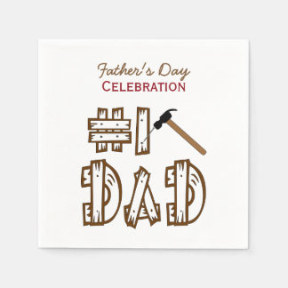 Fix It Dad Father's Day Paper Napkins